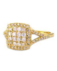 Effy - Metallic 14 Kt. Gold Cushion-cut Diamond Ring - Lyst