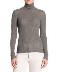 Vince - Gray Skinny Cashmere Sweater - Lyst