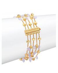 Marco Bicego - Purple Paradise Chalcedony & 18k Yellow Gold Five-strand Bracelet - Lyst