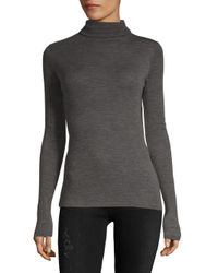 Vince - Gray Cowl Wool Sweater - Lyst