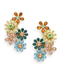 Dolce & Gabbana - Metallic Floral Cluster Earrings - Lyst