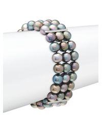 Tara Pearls - Black Pearl Multi-strand Bracelet - Lyst