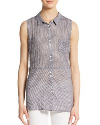 C&C California | Gray Mixed Plaid Top | Lyst