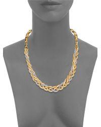 Diane von Furstenberg - Metallic Holiday Pave Collar Necklace - Lyst