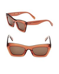 Céline - Orange 50mm Rectangular Sunglasses - Lyst