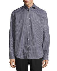 Ralph Lauren Purple Label - Black Purple Label Aston Checked Dress Shirt for Men - Lyst