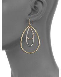 Saks Fifth Avenue - Metallic Triple Ring Drop Earrings - Lyst