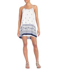 19 Cooper - White Floral Print Shift Dress - Lyst