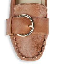 Frances Valentine - Brown Leather Moc Toe Drivers - Lyst
