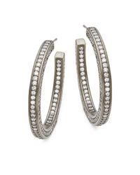 Freida Rothman - Metallic Radiance Hoop Earrings - Lyst