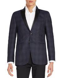 Calvin Klein - Blue Micro Wool Sportcoat for Men - Lyst