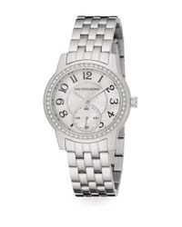 Saks Fifth Avenue - Metallic Mother-of-pearl, Pavà Crystal & Stainless Steel Watch - Lyst