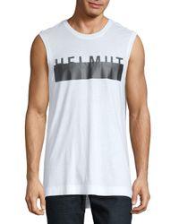 Helmut Lang - White Logo Muscle Tank for Men - Lyst