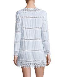 Tory Burch - White Crochet Lace Dress - Lyst
