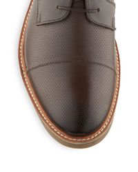 Ben Sherman - Brown Leon Perforated Leather Oxfords for Men - Lyst
