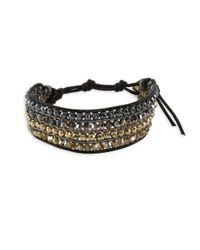 Chan Luu - Metallic Kansa Leather & Sterling Silver Bracelet - Lyst