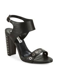 Karl Lagerfeld - Black Leola Grommet-accented Sandals - Lyst