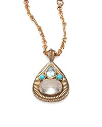 Stephen Dweck - Multicolor Topaz & Turquoise Pear Pendant Necklace - Lyst