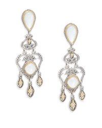 Konstantino - Metallic Erato 18k Yellow Gold & Sterling Silver Chandelier Drop Earrings - Lyst
