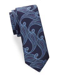 Ike Behar - Blue Paisley Printed Silk Tie for Men - Lyst