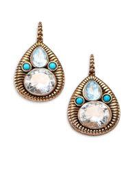 Stephen Dweck | Metallic Blue Topaz, Turquoise & Crystal Pear Drop Earrings | Lyst