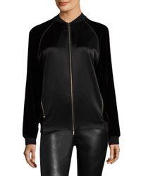 Lafayette 148 New York - Black Brea Velvet Combo Jacket - Lyst