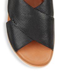 Gentle Souls - Black Kiki Embossed Leather Platform Sandals - Lyst