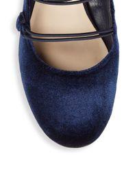 Nine West - Blue Almond Toe Pumps - Lyst