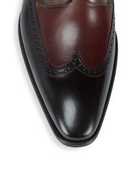 Mezlan - Brown Wingtip Leather Derbys for Men - Lyst