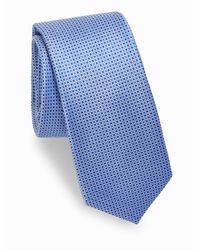 Saks Fifth Avenue - Blue Dotted Silk Tie for Men - Lyst