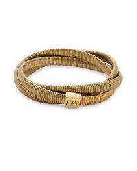 Diane von Furstenberg   Metallic Gemma Mini Interlocking Bracelet   Lyst