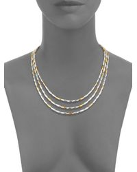 Gurhan - Metallic 24kt Gold Vermeil And Sterling Silver Wheat Necklace - Lyst