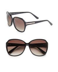 O By Oscar De La Renta - Black 60mm Oversized Sunglasses - Lyst
