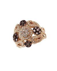 Effy - Metallic 14k Yellow Gold And Diamond Ring - Lyst