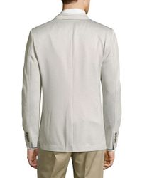 CALVIN KLEIN 205W39NYC - Gray Solid Slub Knit Jacket for Men - Lyst