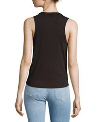 Chaser - Black Tie Front Muscle Tee - Lyst