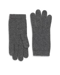 Portolano - Gray Cashmere Gloves - Lyst