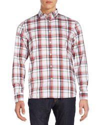 Victorinox - Red Morgan Plaid Sportshirt for Men - Lyst