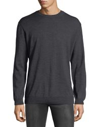 Bugatchi - Gray Merino Wool Elbow-patch Sweater for Men - Lyst