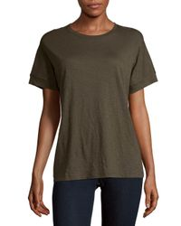 Vince - Green Short Sleeve Cotton Tee - Lyst