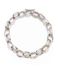 Saks Fifth Avenue - Metallic Sterling Silver Oval Chain Necklace - Lyst