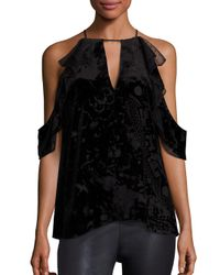 Parker - Black Chelo Silk-blend Blouse - Lyst