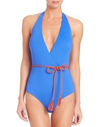 Lazul - Blue One-piece Goldie Plunge Swimsuit - Lyst