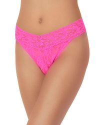 Hanky Panky - Pink Original Rise Lace Thong - Lyst