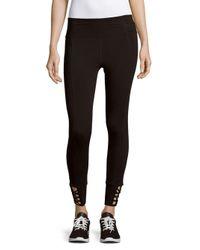 CALVIN KLEIN 205W39NYC - Black Textured Banded Waist Pants - Lyst