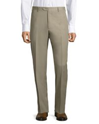 Santorelli - Natural Wool Trousers for Men - Lyst