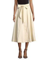 Lisa Marie Fernandez - Natural Patchwork Beach Cotton Skirt - Lyst