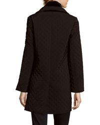 Jane Post - Black Quilted Long Coat - Lyst