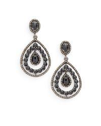 Bavna - Metallic Sterling Silver Drop Earrings - Lyst