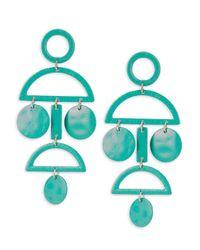 Gemma Simone - Blue Geo Sterling Silver Earrings - Lyst
